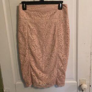 Blush express pencil skirt